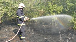 Втори ден продължава борбата с пожара в Казанлъшко