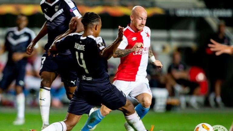 Отборът на Славия Прага извоюва минимална победа над Бордо с