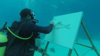 Да рисуваш на шест метра под водата