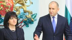 Караянчева към Радев: Единение не се постига с вдигат юмрук