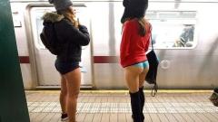По гащи в метрото (ВИДЕО)