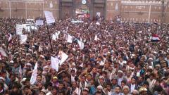 Хиляди на протест срещу въздушните удари в столицата на Йемен