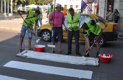 Видин без пари за пешеходни пътеки