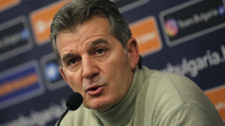 Костадинов: Аз предложих Ясен Петров, задачата му е да обнови националния отбор