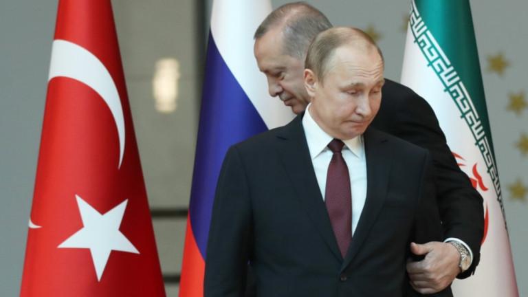 Турският президент Реджеп Тайип Ердоган определя Владимир Путин и самият