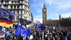 Многохиляден протест срещу Брекзит в Лондон