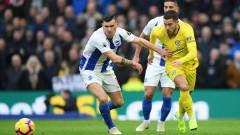 Челси не позволи изненада срещу Брайтън и продължава да диша във врата на Тотнъм