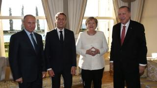 Ердоган, Путин, Макрон и Мекрел обсъждат Сирия