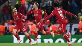Ливърпул сломи Милан в мач с два обрата и пет гола