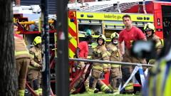 Голям пожар на жп гара в центъра на Лондон