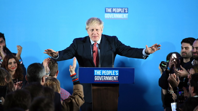 Премиерът на Великобритания Борис Джонсън направи голям залог с призова