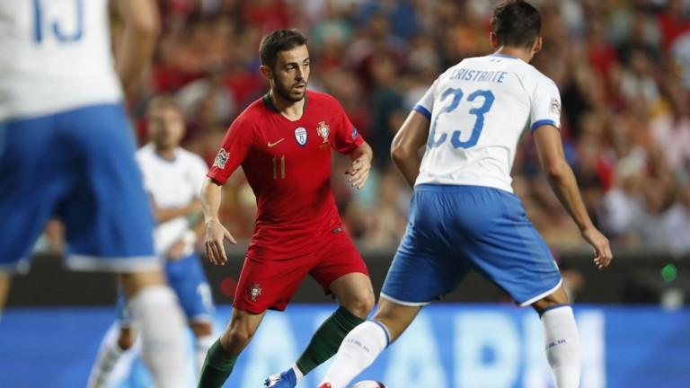 Португалия 0 : 0 Италия 35′ Мощен удар на Карвальо