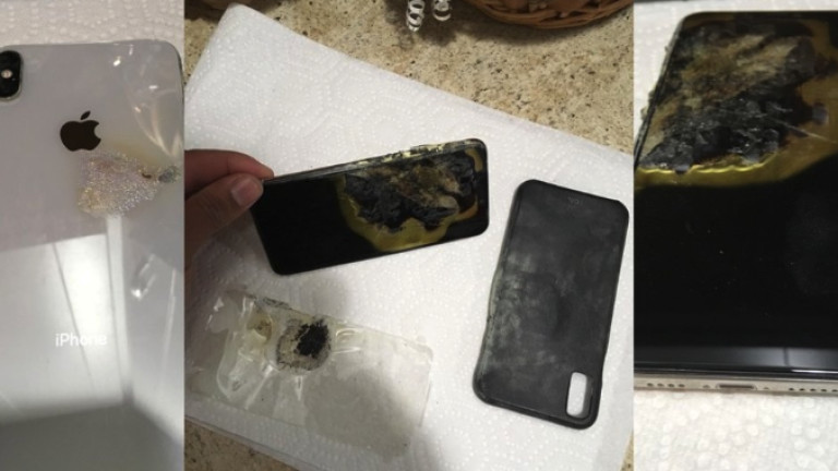 iPhone XS Max се подпали и рани човек