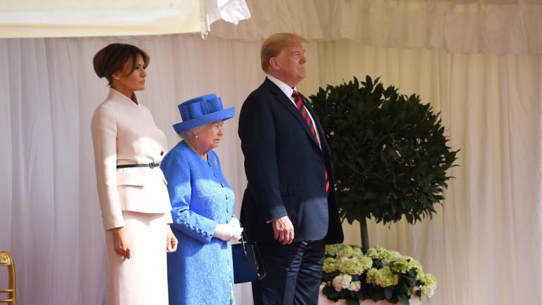 10 хил. полицаи и $24 млн. струвала визитата на Тръмп във Великобритания