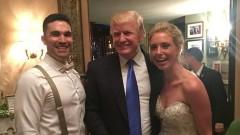 Доналд Тръмп изненада младоженци (СНИМКА)