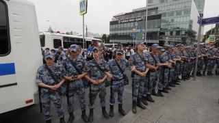 Над 600 задържани на протест за местните избори в Москва