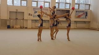 Новият ансамбъл по художествена гимнастика замина за Москва