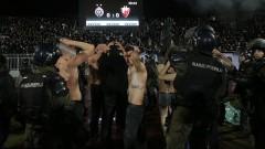 Конфликт между феновете на Партизан предизвикал кървавото меле в Белград (ВИДЕО)