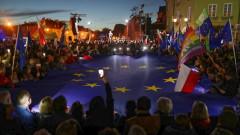 Хиляди във Варшава подкрепиха Полша в ЕС