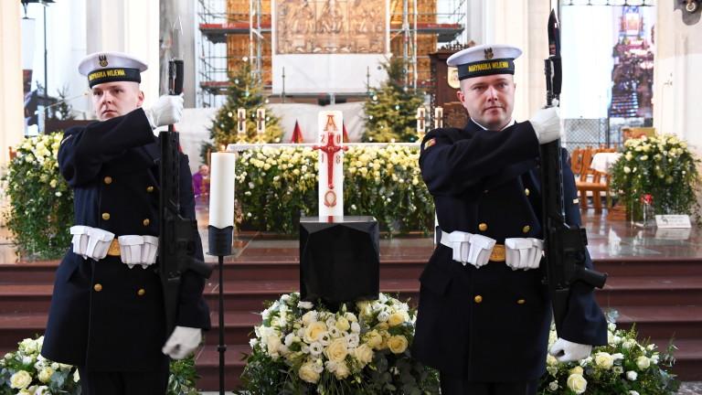 Жителите на Гданск се простиха с кмета на града Павел