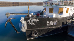 """90 години по-късно корабът """"Радецки"""" акостира на козлодуйския бряг"""