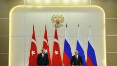 Путин и Ердоган съгласуваха координиране на единен фронт срещу тероризма в Сирия