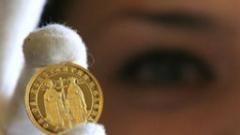 БНБ пуска уникална 8,6 грамова златна монета