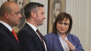 Нинова излезе от срещата с Радев без уверение, че ще вземе третия мандат