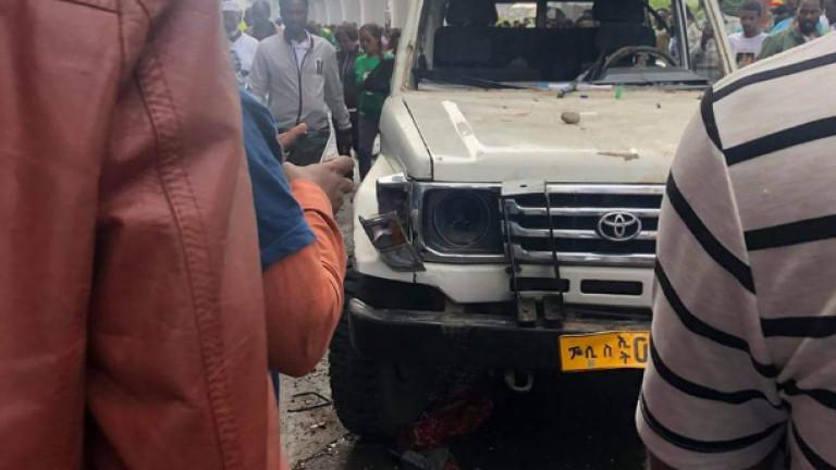 Експлозия разтърси митинг на новия премиер на Етиопия Аби Ахмед,
