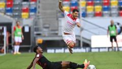 Фортуна остана на позиция за плейаут след равенство с Аугсбург