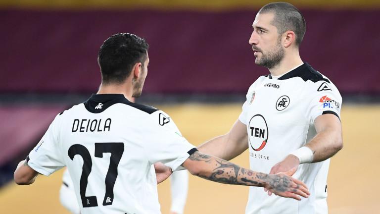 Българският нападател Андрей Гълъбинов отново предизвика фурор в италианския футбол.