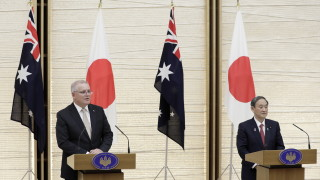 Китай размаха пръст на Австралия и Япония заради новия им военен пакт