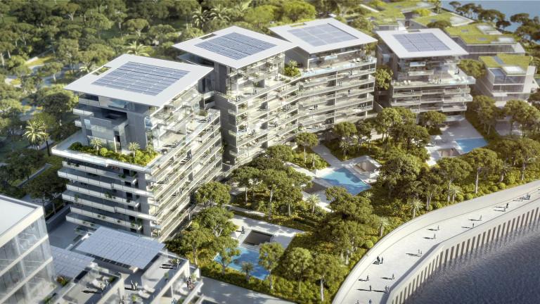 Сградите ще са напълно екологични, захранвани с енергия от слънцето и морето