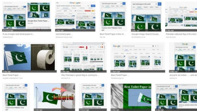 """Пакистанският флаг – """"най-добрата тоалетна хартия в света"""" в Google"""