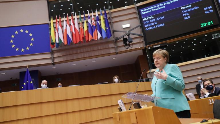 Канцлерът на Германия Ангела Меркел изложи визиятаси за по-голямо обединение