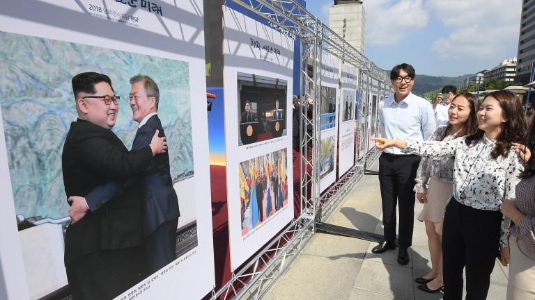 Южна и Северна Корея възстановяват комуникационни канали