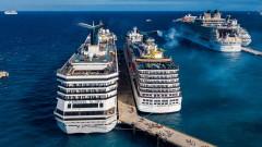 Сблъсък между два круиза на мексиканско пристанище