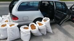 Откриха 220 кг незаконен тютюн в багажника на кола във Варна