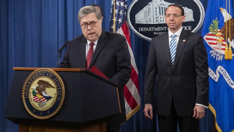 Снимка: Тръмп не е възпрепятствал правосъдието, няма сговор с Русия, потвърди главният прокурор