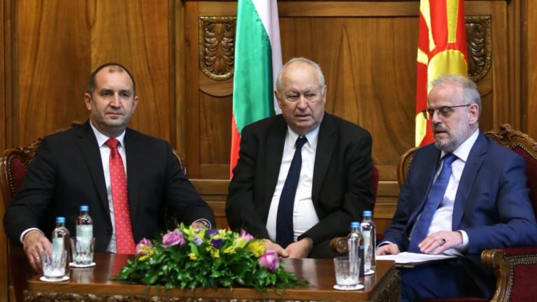 Българският президент Румен Радев и македонският му колега Георге Иванов