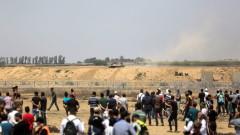 Стотици ранени палестинци при протест на Западния бряг