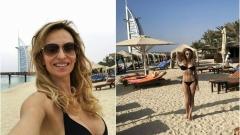 Малина показа перфектно тяло на плажа Джумейра