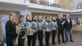 Кралев гост при награждаване на състезателките от националния ансамбъл по художествена гимнастика
