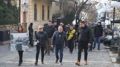 """Пред гръцкото посолство в София протестират фенове на """"Ботев"""" Пловдив"""