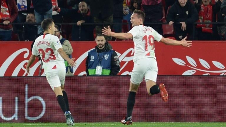 Севиля спечели андалусийското дерби с Гранада с 2:0 и се
