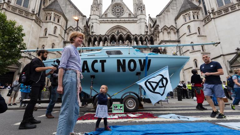 Движението за защита на околната среда Extinction Rebellion провежда протестни