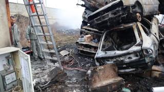 Автоморга горя в Ямбол
