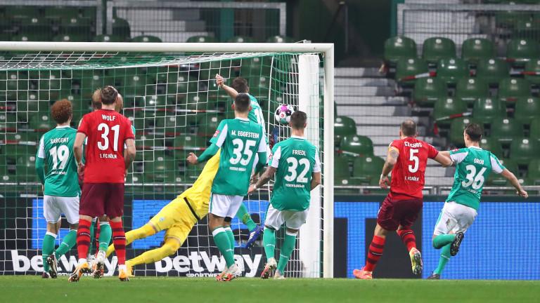 Вердер и Кьолн завършиха 1:1 в първия мач от 7-ия