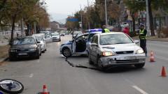 Моторист пострада при катастрофа в Благоевград