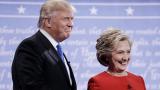Прехвърчаха искри в дуела между Клинтън и Тръмп